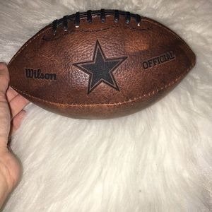 Mini Cowboys leather football